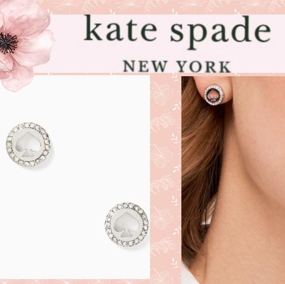 New Adorable Kate Spade Halo Spade Studs